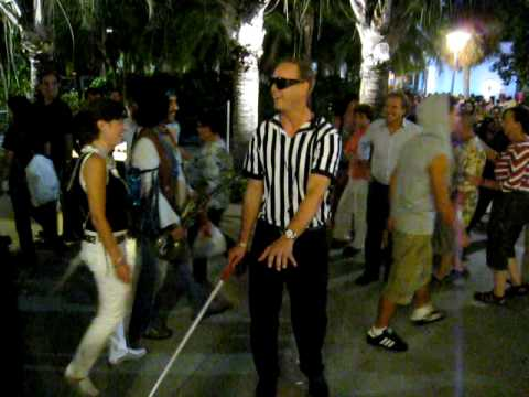 The blind referee - Halloween 2009 Lincoln Rd Miami FL & The blind referee - Halloween 2009 Lincoln Rd Miami FL - YouTube
