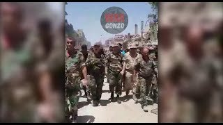ЭКСКЛЮЗИВ! Встреча южного и северного фронтов САА в Ярмуке