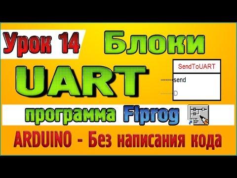 Урок 14 Блоки UART в программе Flprog