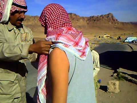 Wadi Rum gaurd tie's my head dress