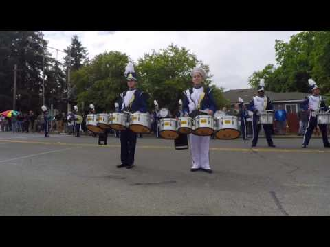 Benicia Viking Drumline at Vallejo Band Review 2016
