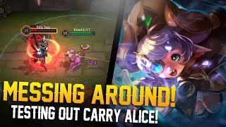 MESSING WITH AD ALICE!! Arena of Valor Gameplay - Alice Gameplay