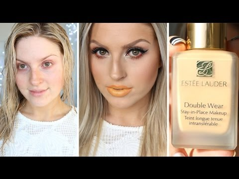 First impression review estee lauder double wear foundation also youtube rh