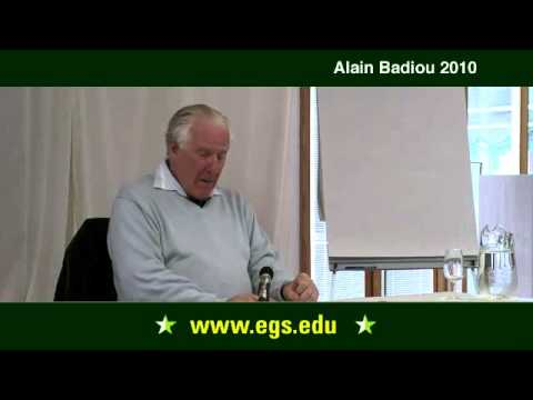 Alain Badiou. Philosophy's Conditions of Existence. 2010.