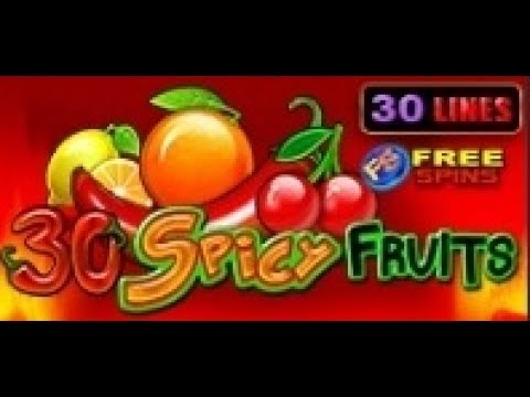 30 Spicy Fruits - Slot Machine - 30 Lines