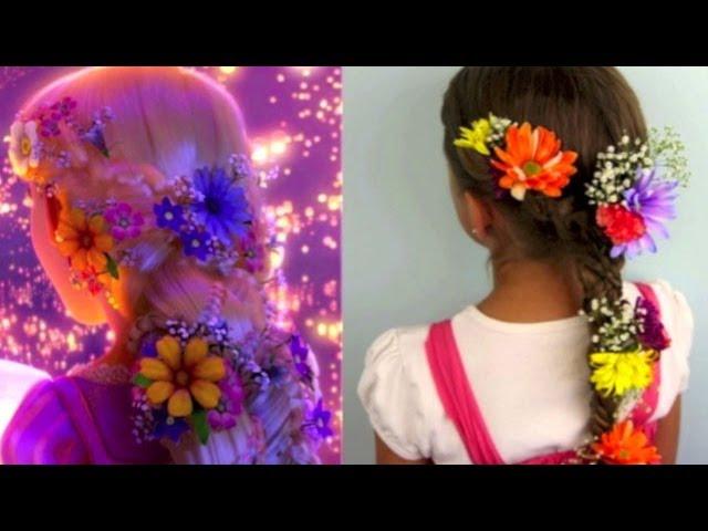 Tangled S Rapunzel Braid Tutorial A Cutegirlshairstyles Disney Exclusive Youtube