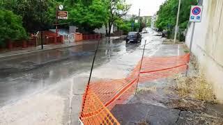 Maltempo a Termoli: si allaga di nuovo la strada a Rio Vivo