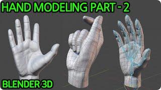 Hand Sculpting Retopology With Blender 3D PART - 2  -Retopology