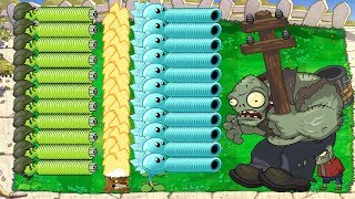 Team Pea vs 99999 Gargantuar   Plants vs Zombies Battlez Minigames