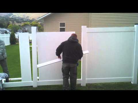 HOW TO INSTALL A VINYL FENCE (part 2)