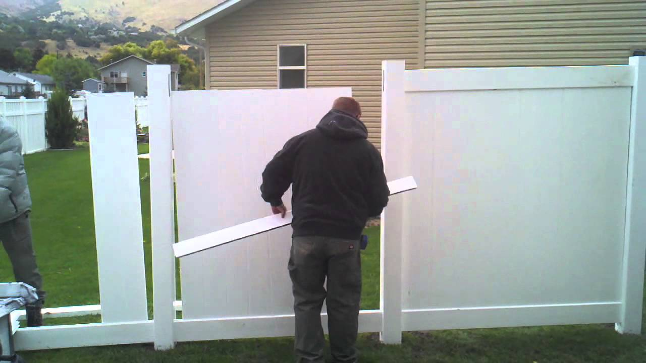 HOW TO INSTALL A VINYL FENCE (part 2) - YouTube