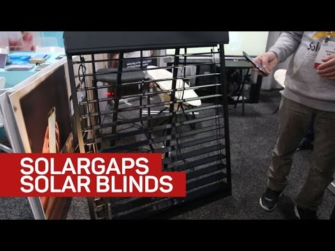 Put your blinds to good use with the solar powered SolarGaps