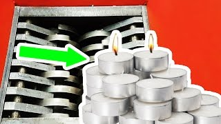 SHREDDING AND EATING WAX CANDLES IS SOMEWHAT SATISFYING | ASMR eating sounds no talk #YAWS Ep. 36