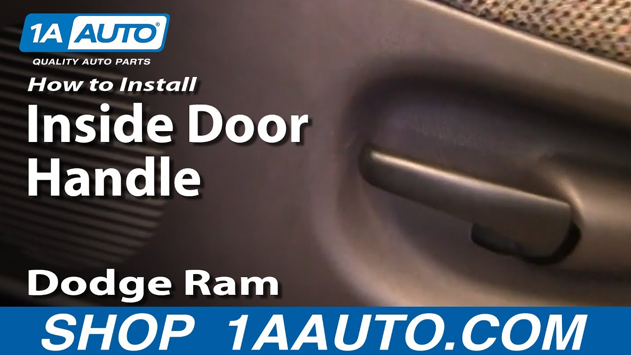 how to install replace broken inside door handle dodge ram pickup 94 01 youtube. Black Bedroom Furniture Sets. Home Design Ideas
