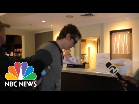 Convicted Sex Offender Brock Turner And His Parents Enter Hotel | NBC News