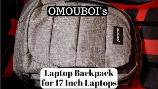 Backpack with a built in combination lock!!! (OMOUBOI's Backpack for 17 Inch Laptops)