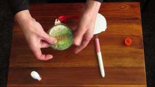 Personalize a Plaster Christmas Ornament with Craft Attitude