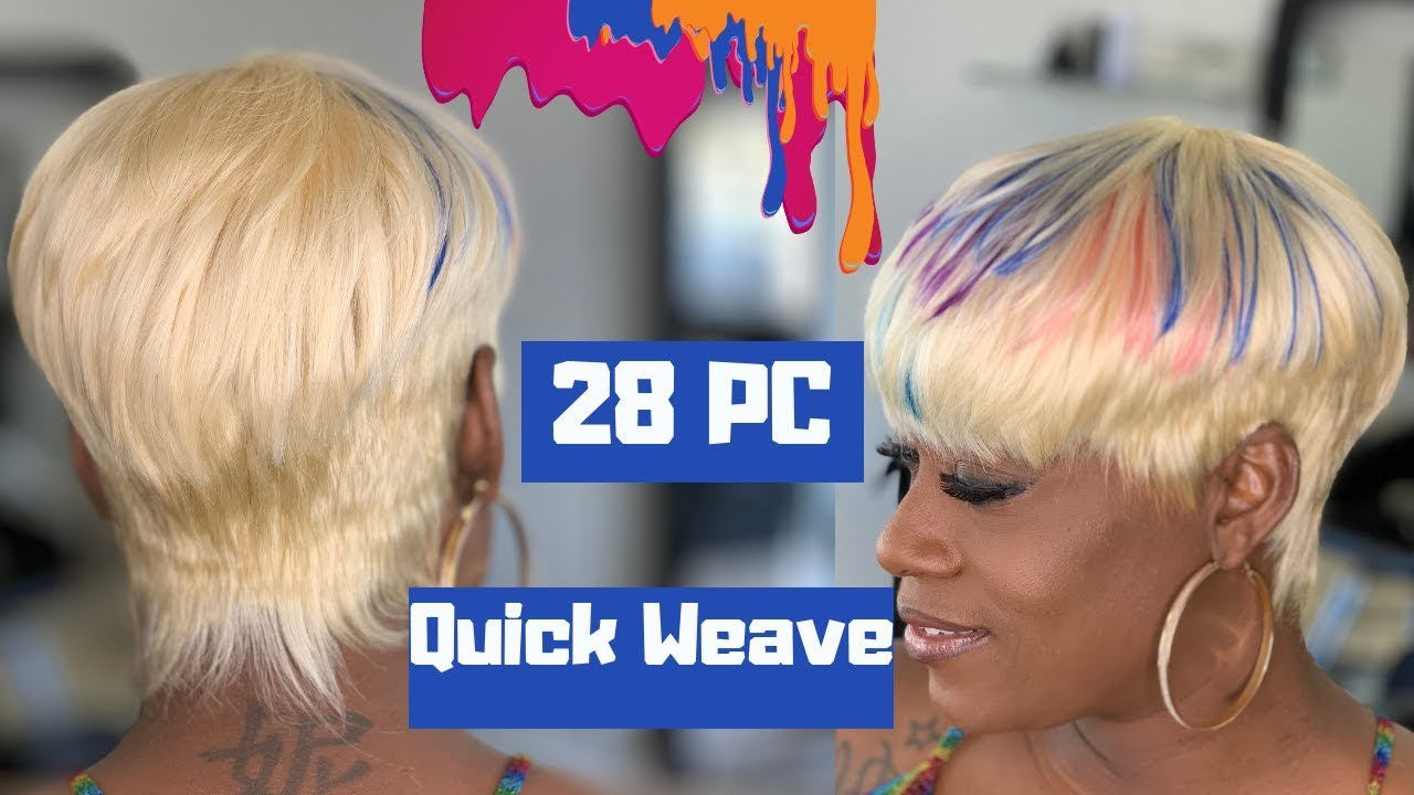 28 piece quick weave   sensual iremy   how to do a short quick weave