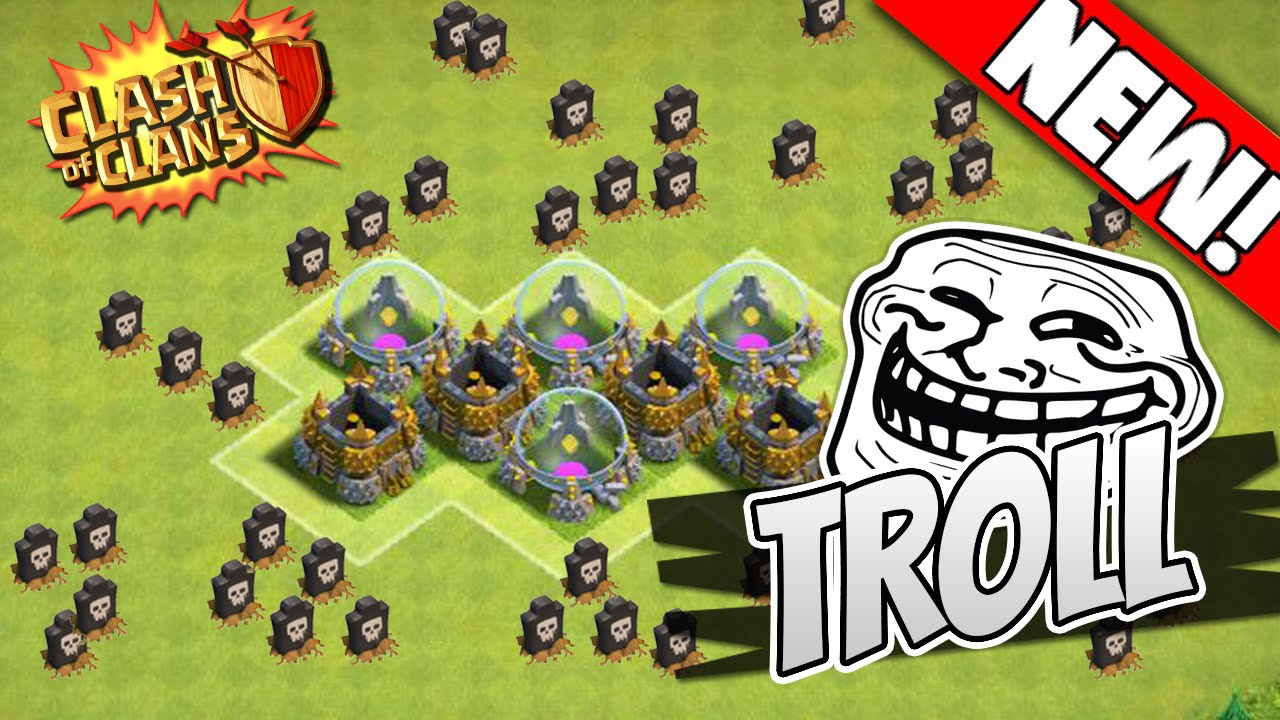 clash of clans th7 troll base best town 7 defense