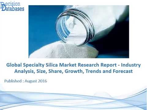 Specialty Silica Market Research Report Upto 2022