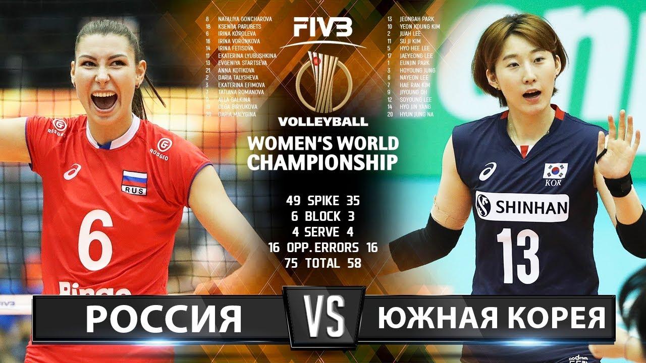 Волейбол | Россия vs. Южная Корея | Женский Чемпионат Мира 2018 | Лучшие моменты игры