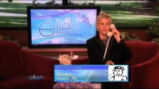 Ellen got A Surprise Call from Gladys