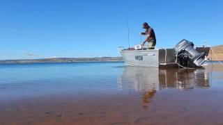 Trout and Yabbie fishing,  Lake Eucumbene, N.S.W. Australia