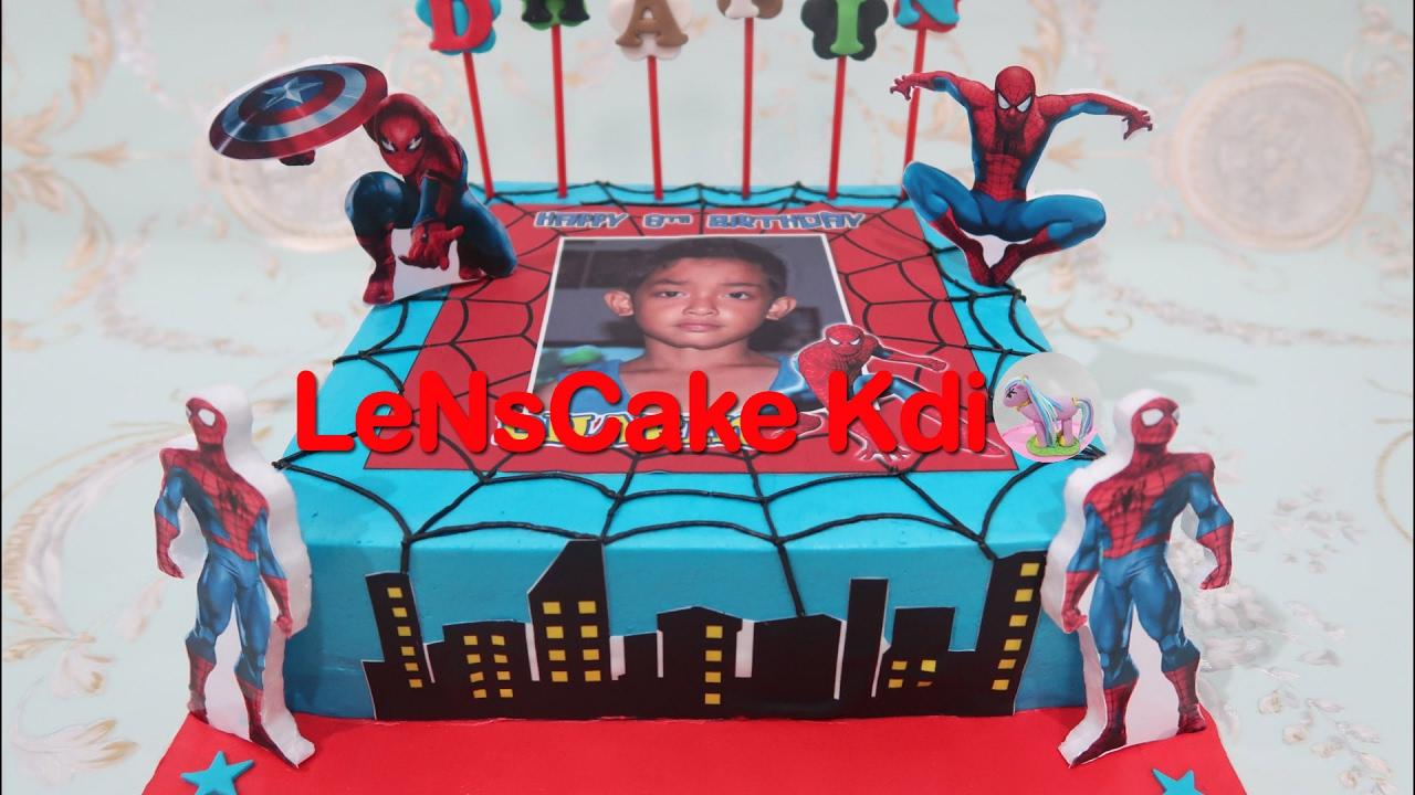 Wow Kereeen Cara Membuat Kue Ulang Tahun Spiderman How To Make Spiderman Birthday Cake Youtube