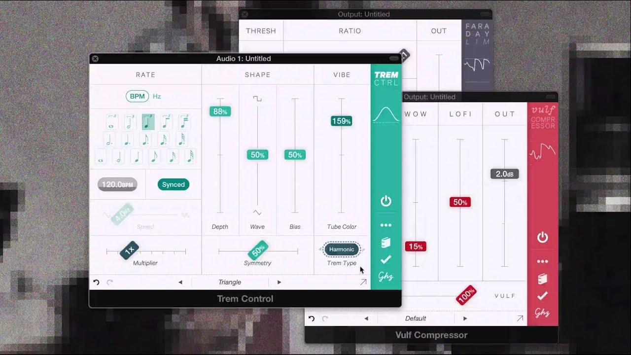 Goodhertz Trem Control, tremolo AU and AAX plug-in for Mac