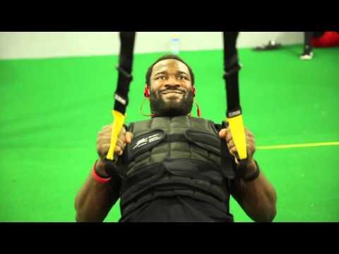 watch a5e7d 9ba89 Rutgers linebacker Steve Longa trains for NFL combine - YouTube
