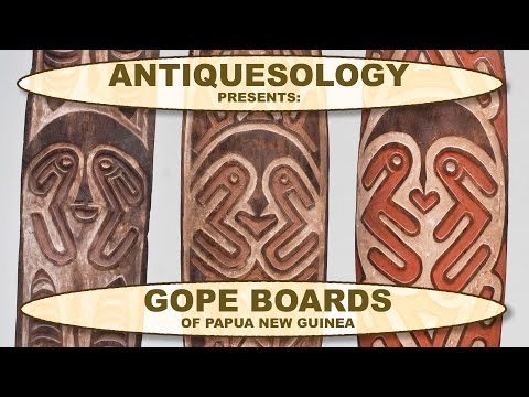 Antiquesology: Papua New Guinea Gope Boards