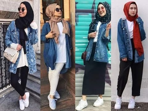Hijab Lookbook Denim Jacket Youtube
