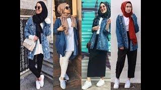 Hijab lookbook / denim jacket 💕💖