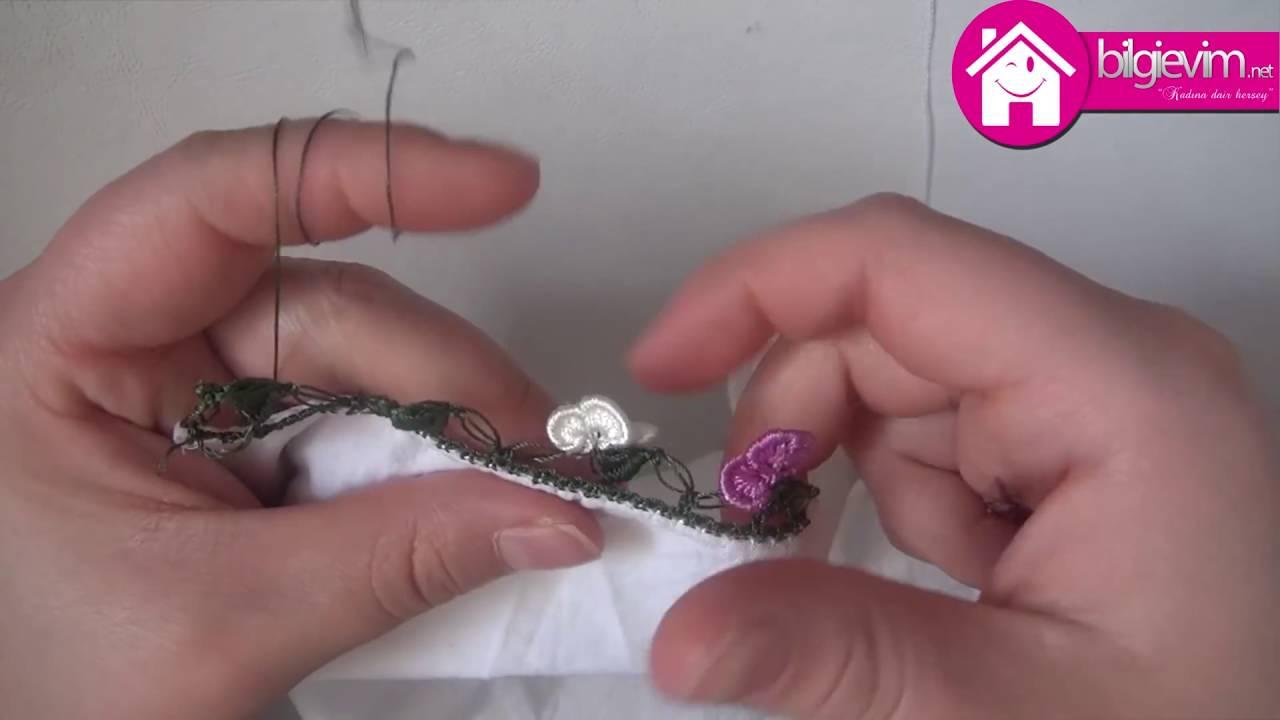 Tığ İşi Yapraklı Fıstıklar Kalem Oyası Yapılışı Anlatımlı Videolu