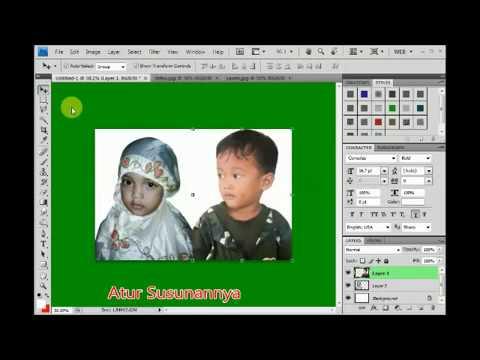 Cara Menggabungkan 2 Foto Jadi 1 Gambar Menggunakan Photoshop Cs4 Youtube