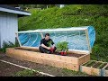 Easy DIY Hinged HOOPHOUSE for Raised Bed