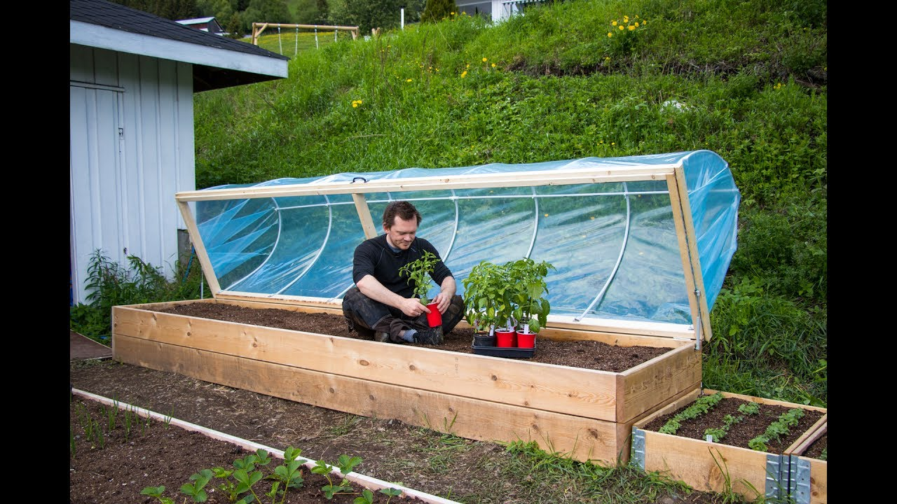Easy Diy Hinged Hoophouse For Raised Bed Youtube