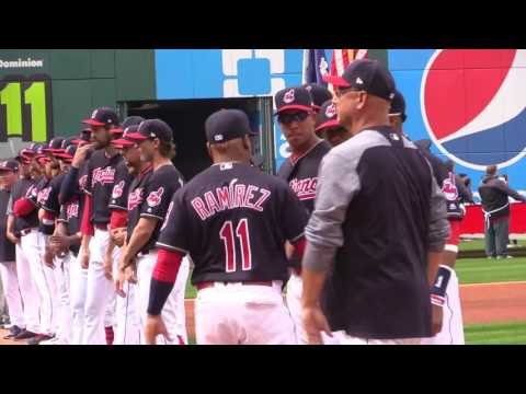 Cleveland Indians starting lineup introductions for 2017 home opener