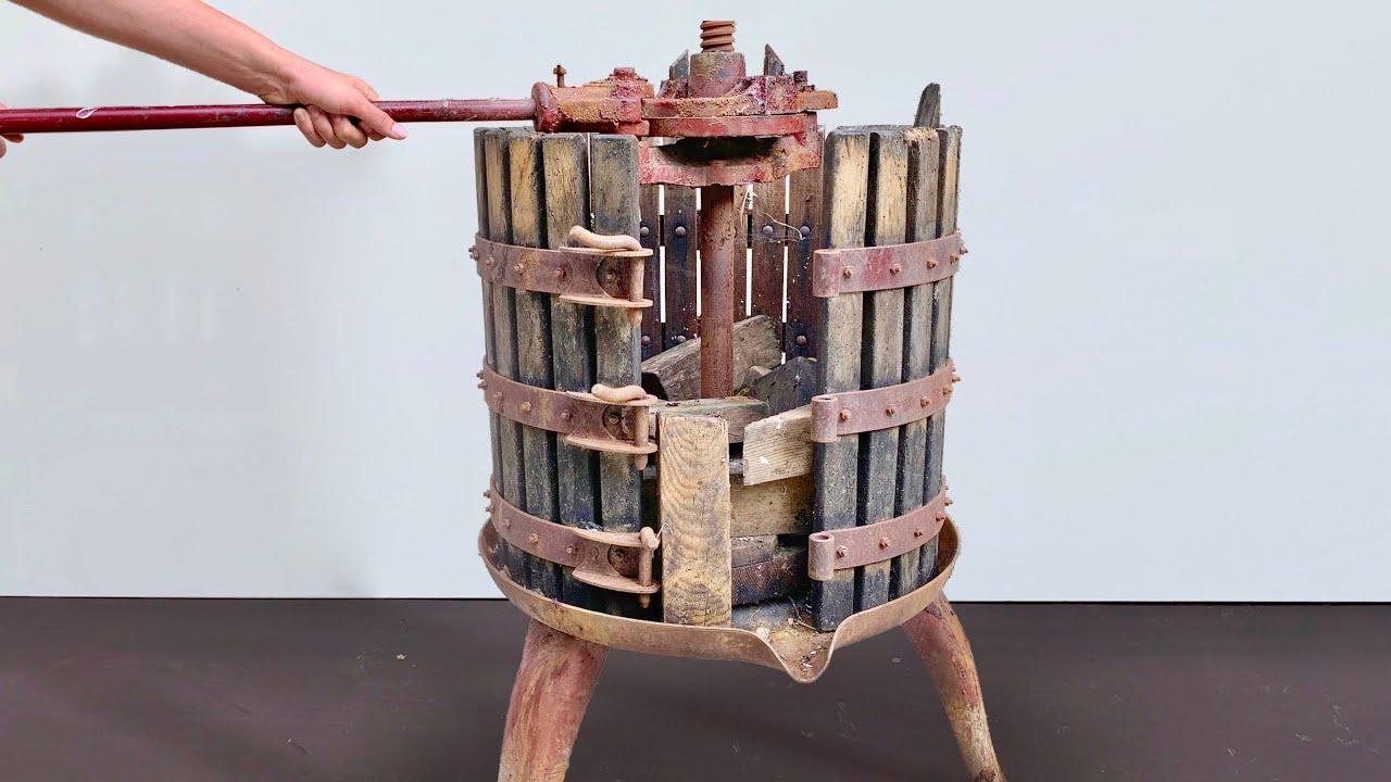 Antique Grape Press Restoration