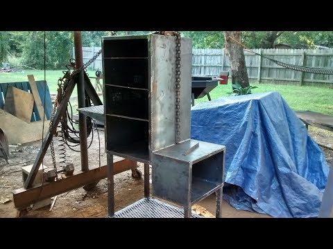 Vertical bbq smoker build pt1/2