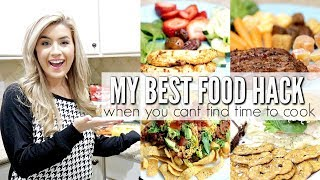 MAKE MEALS FAST! HEALTHY MEAL PREP FOOD HACK WHEN YOU CANT FIND TIME TO COOK | LoveMeg