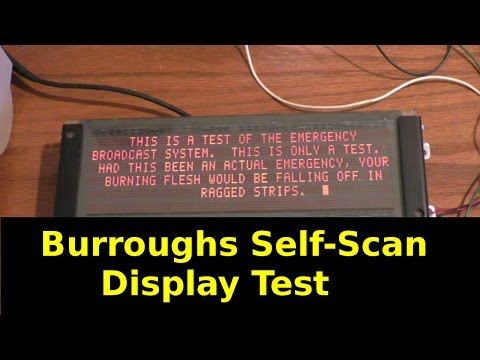 Burroughs Self Scan Display Reverse Engineering
