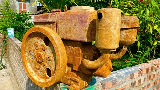 Old samdi R175A diesel engine fully restoration   Restore and repair old rusty D6 engine