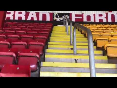 A tour of the Northern Commercials Stadium at Valley Parade