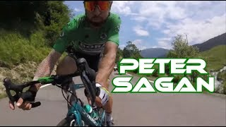 Peter Sagan caught by onboard camera Tour de France 2018