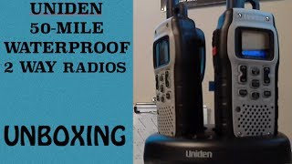 Uniden 50-Mile Waterproof Two Way Radios - Unboxing