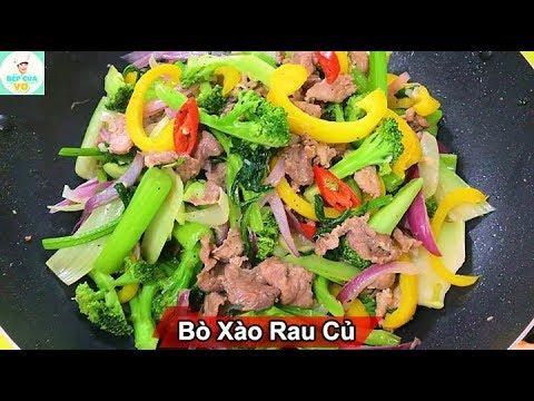 BÒ XÀO RAU CỦ   Cách xào bò đơn giản, bổ dưỡng   Bếp Của Vợ