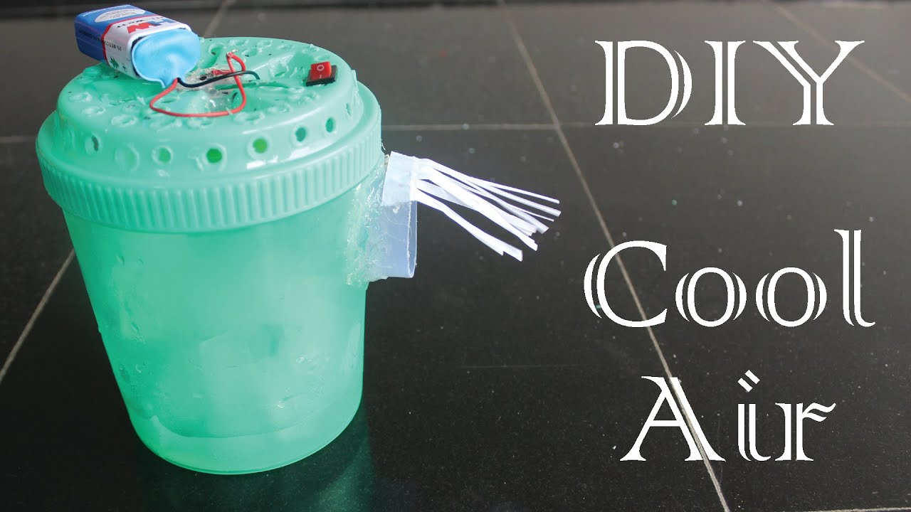 How To Make Mini Air Cooler Using