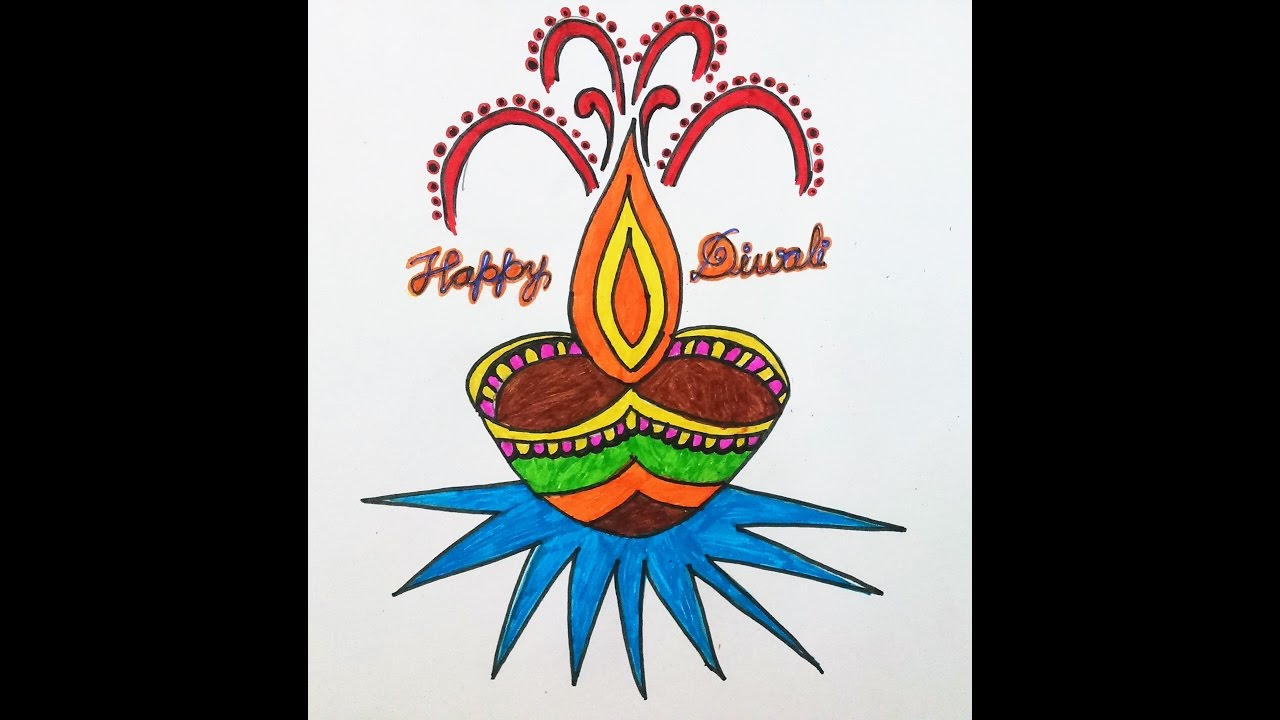 My creative art 3 how to draw diwali greeting youtube m4hsunfo