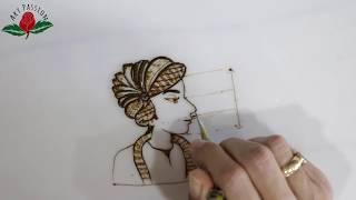 Tutorial 33 : learn how to draw groom in bridal mehendi